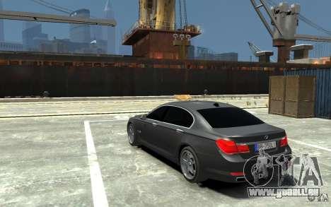 Bmw 750 LI v1.0 pour GTA 4 Vue arrière de la gauche