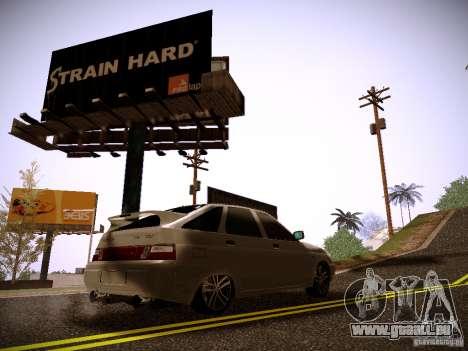 VAZ-2112 pour GTA San Andreas sur la vue arrière gauche