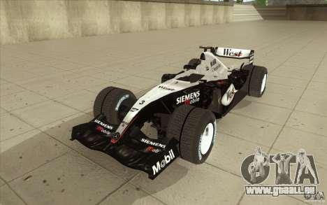 McLaren Mercedes MP 4-19 für GTA San Andreas