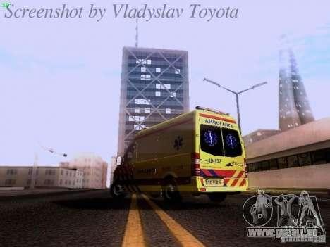 Mercedes-Benz Sprinter Ambulance pour GTA San Andreas sur la vue arrière gauche
