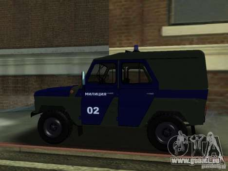UAZ 3151 Polizei für GTA San Andreas linke Ansicht