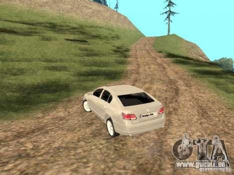 Lexus GS-350 für GTA San Andreas zurück linke Ansicht