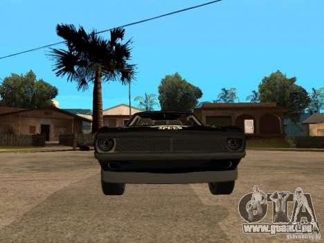 Plymouth Hemi Cuda Rogue Speed für GTA San Andreas rechten Ansicht