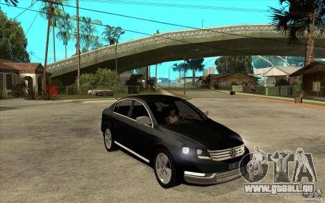 Volkswagen Passat 2.0 TDI Bluemotion 2011 pour GTA San Andreas vue arrière