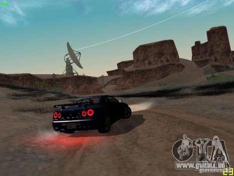 Nissan Skyline GT-R R34 V-Spec für GTA San Andreas Rückansicht