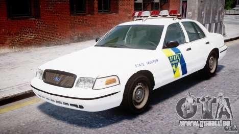 Ford Crown Victoria New Jersey State Police pour GTA 4 est une gauche
