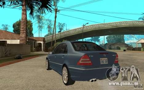 Mercedes-Benz C32 AMG 2003 pour GTA San Andreas sur la vue arrière gauche