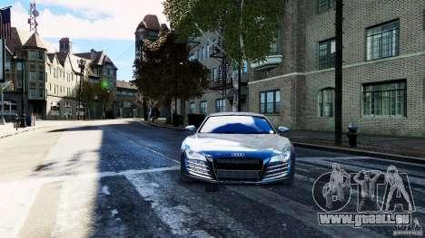 Audi R8 Spider 2011 pour GTA 4 est un droit