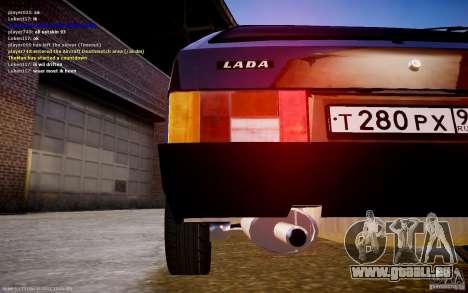 VAZ 2108 für GTA 4 hinten links Ansicht