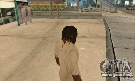 Lange dunkle Haare für GTA San Andreas zweiten Screenshot