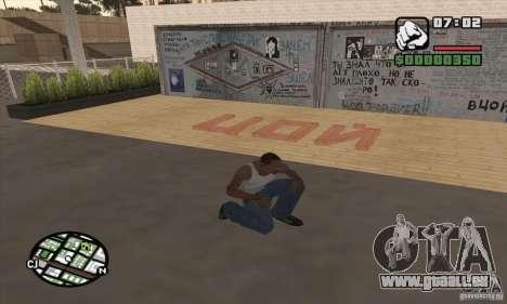 Mur de Tsoi pour GTA San Andreas troisième écran