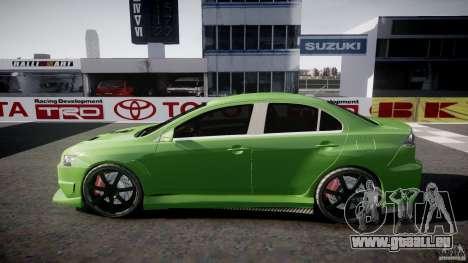 Mitsubishi Lancer Evolution X Tuning pour GTA 4 vue de dessus
