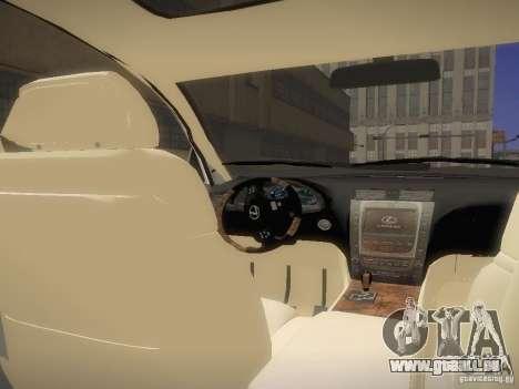 Lexus GS450H pour GTA San Andreas vue de droite