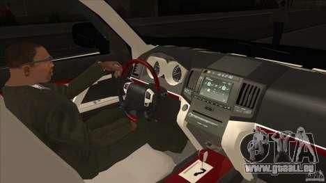 Lexus LX 570 für GTA San Andreas Innenansicht