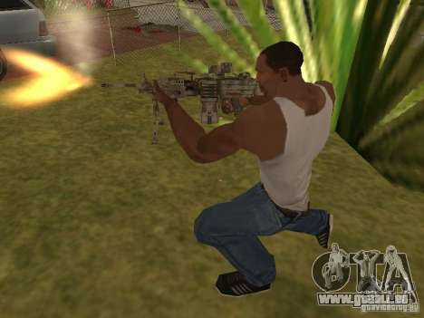 Mitrailleuse MK-48 pour GTA San Andreas cinquième écran