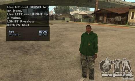 Skin Selector v2.1 für GTA San Andreas sechsten Screenshot