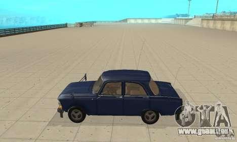 Moskvitch 412 avec tuning pour GTA San Andreas laissé vue