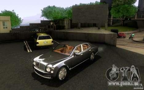 Bentley Mulsanne 2010 v1.0 pour GTA San Andreas laissé vue