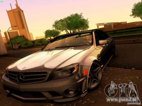 Mercedes-Benz C36 AMG pour GTA San Andreas vue de dessus