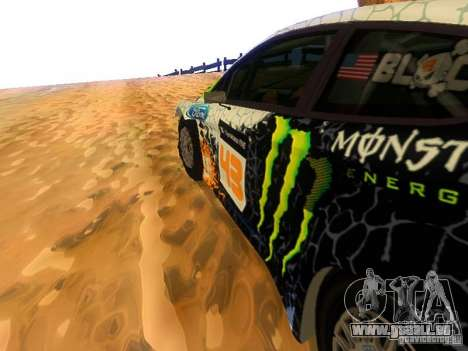 Ford Fiesta RS WRC 2012 für GTA San Andreas Innenansicht