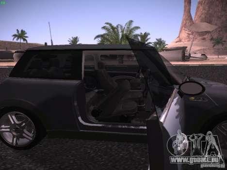 Mini Cooper S pour GTA San Andreas vue de côté
