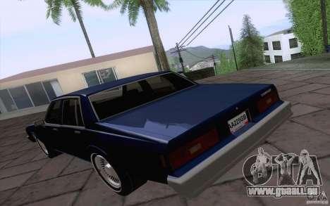 Chevrolet Caprice Clasico für GTA San Andreas zurück linke Ansicht