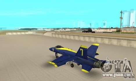 Blue Angels Mod (HQ) pour GTA San Andreas sur la vue arrière gauche