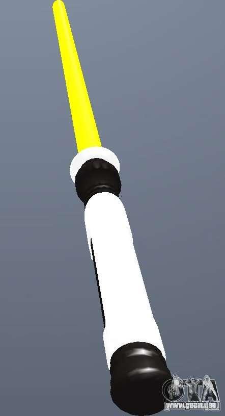 Lightsabre v2 Yellow für GTA San Andreas zweiten Screenshot