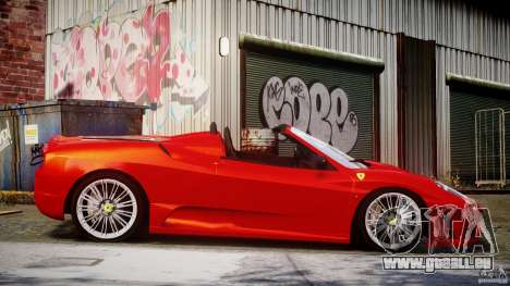 Ferrari F430 Scuderia Spider für GTA 4 Seitenansicht