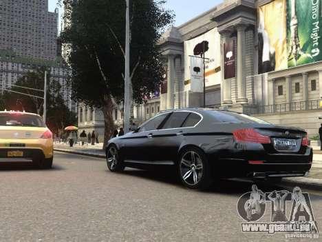 BMW 550i F10 pour GTA 4 Vue arrière de la gauche