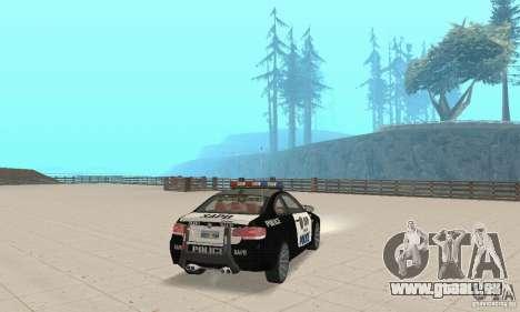 BMW M3 E92 Police für GTA San Andreas linke Ansicht
