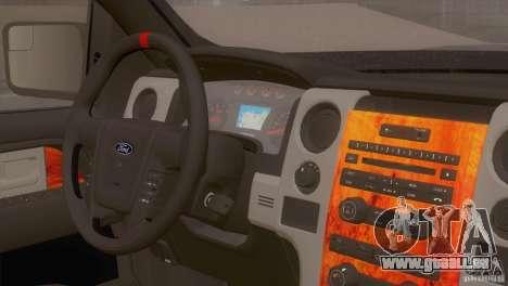 Ford Raptor pour GTA San Andreas vue arrière