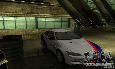 BMW M3 E92 für GTA San Andreas obere Ansicht
