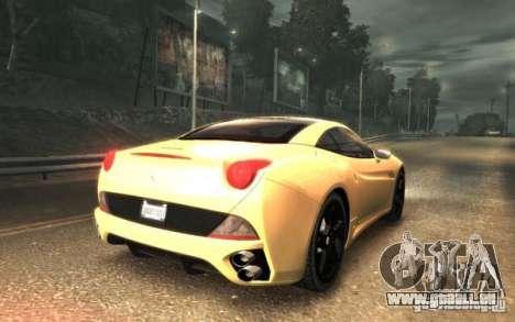 Ferrari California für GTA 4 linke Ansicht