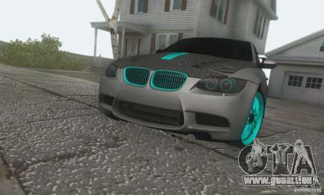 BMW M3 E92 Hellaflush v1.0 für GTA San Andreas zurück linke Ansicht