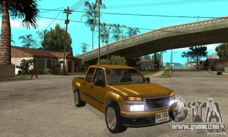 GMC Canyon 2007 für GTA San Andreas Rückansicht