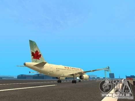 Airbus A319 Air Canada pour GTA San Andreas vue de droite