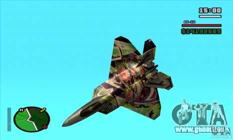 F-22 Raptor Graffity Skin pour GTA San Andreas laissé vue