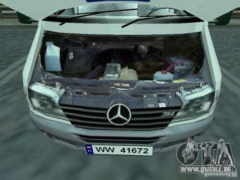 Mercedes-Benz Sprinter pour GTA San Andreas vue de droite