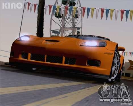 Chevrolet Corvette C6 Z06R GT3 v1.0.1 pour GTA San Andreas vue de dessous