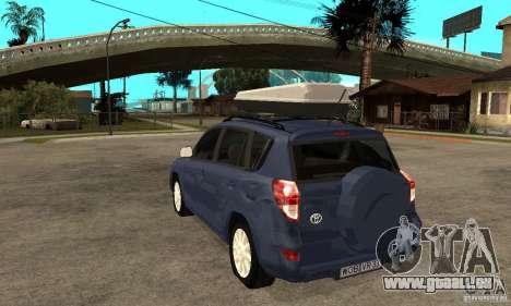 Toyota RAV4 V2 für GTA San Andreas zurück linke Ansicht