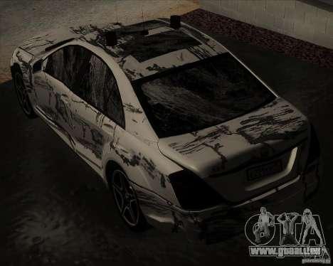 Mercedes-Benz S65 AMG W221 pour GTA San Andreas vue de côté