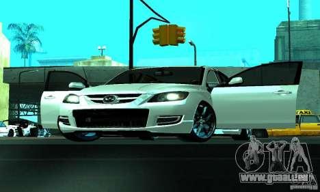 Mazda Speed 3 pour GTA San Andreas vue intérieure