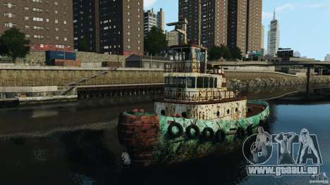 Realistic Rusty Tugboat pour GTA 4