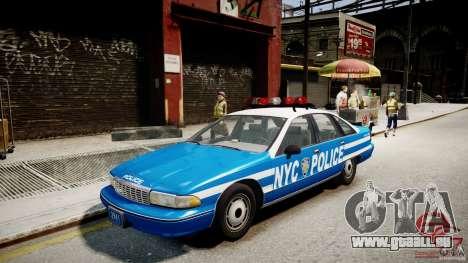 Chevrolet Caprice 1991 NYPD für GTA 4