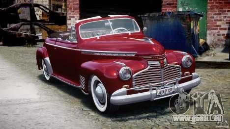 Chevrolet Special DeLuxe 1941 pour GTA 4 Vue arrière