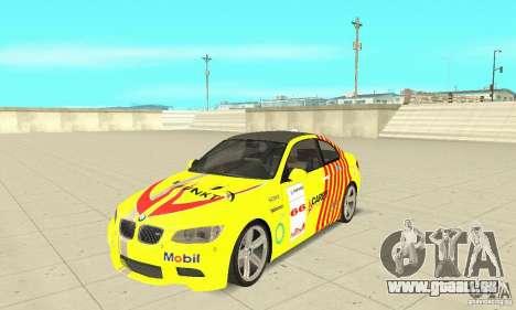 BMW M3 2008 pour GTA San Andreas salon