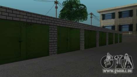 Struktur der Garagen und Gebäude in SF für GTA San Andreas siebten Screenshot