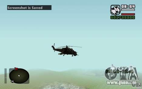 Mi-24 pour GTA San Andreas vue de côté