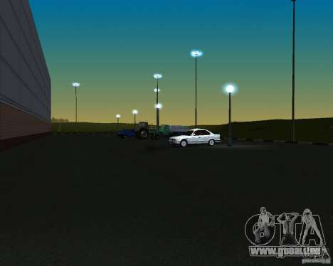 Voitures dans le stationnement à Anašana pour GTA San Andreas troisième écran